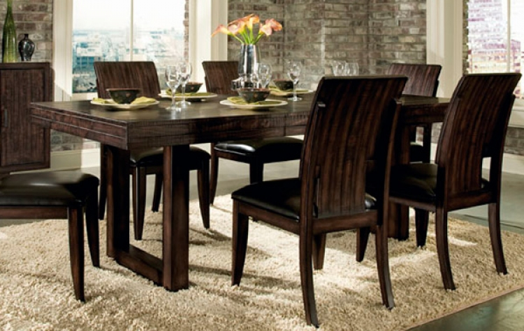 Portland Rectangular Sled Base Pedestal Table