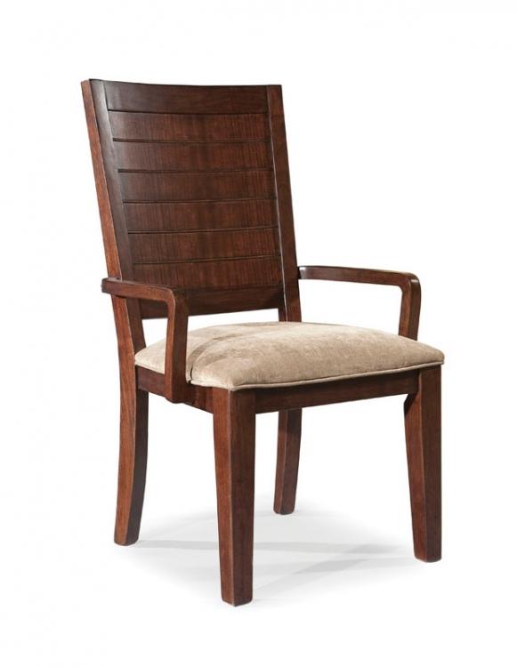 Portfolio Wood Back Arm Chair