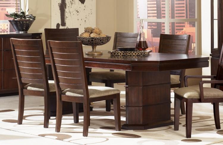 Portfolio Rectangular Double Pedestal Table