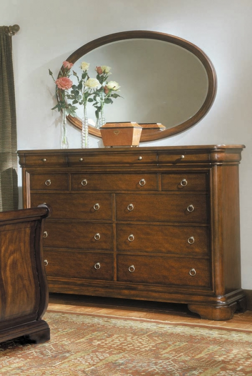 Vintage Bureau with Mirror