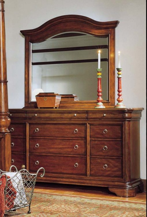 Vintage Dresser with Arched Mirror