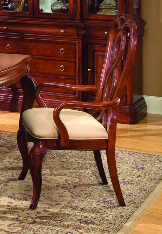 Vintage Ribbon Back Arm Chair