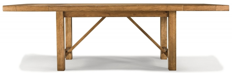 Logan Trestle Table - Worn Khaki with Distressing