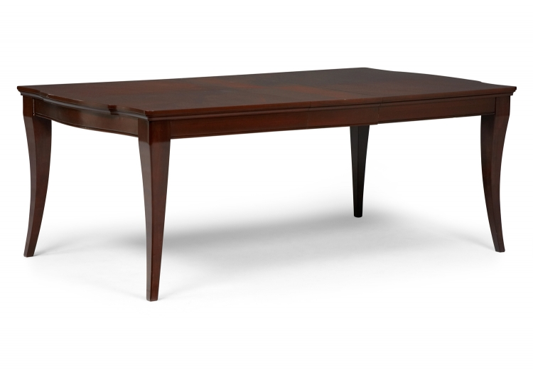Laurel Heights Rectangular Leg Table - Dark Truffle