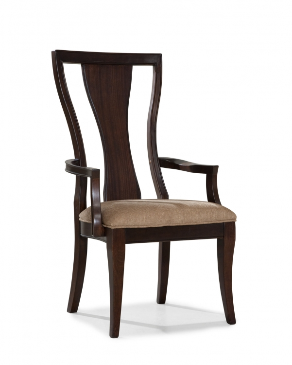 Laurel Heights Splat Back Arm Chair - Dark Truffle