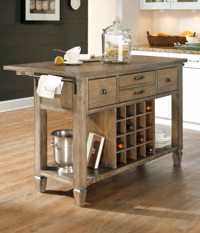 Brownstone Village Kitchen Island - Aged Patina