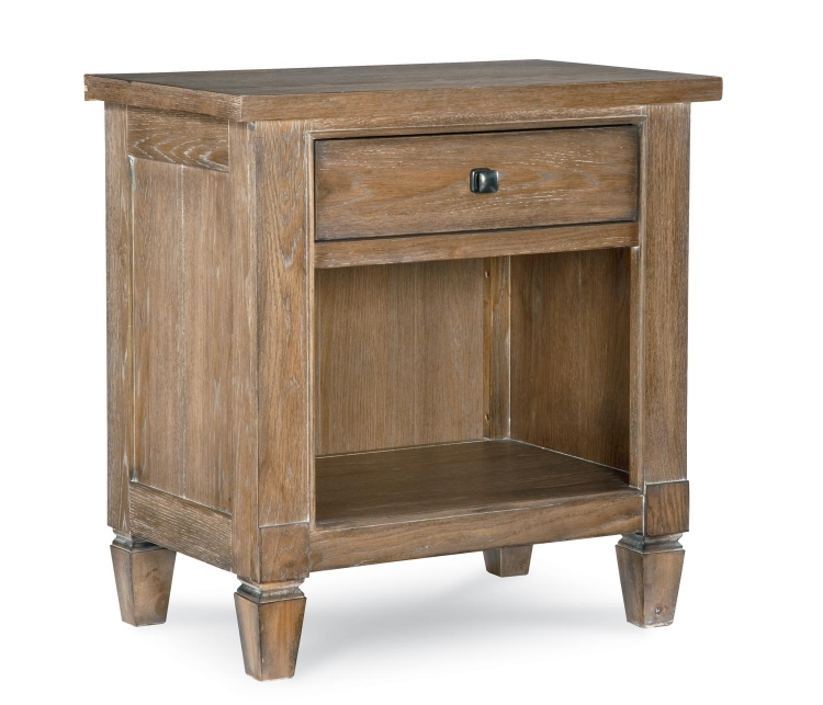 Brownstone Village Open Night Stand - Aged Patina