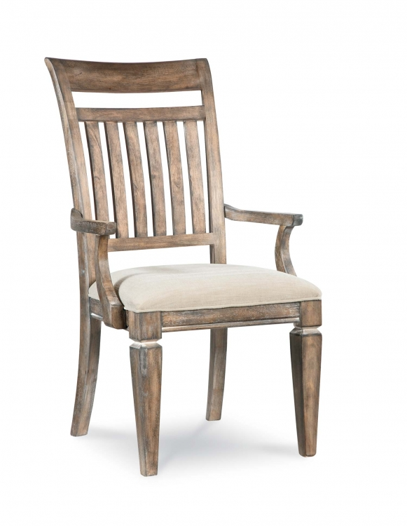 Brownstone Village Slat Arm Side Chair - Aged Patina