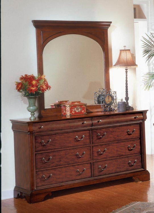 Chateau Louis Dresser with Vertical Mirror