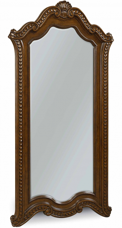 Pemberleigh Floor Mirror - Brandy/Burnished Edges
