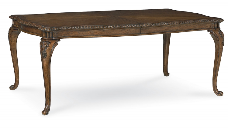 Pemberleigh Leg Table - Brandy/Burnished Edges
