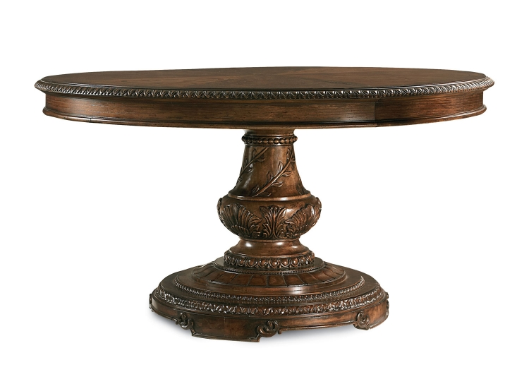 Pemberleigh Round/Oval Table - Brandy/Burnished Edges