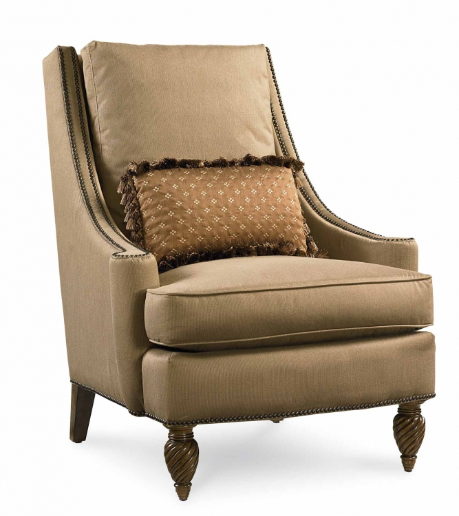 Pemberleigh Accent Chair - Brandy/Burnished Edges