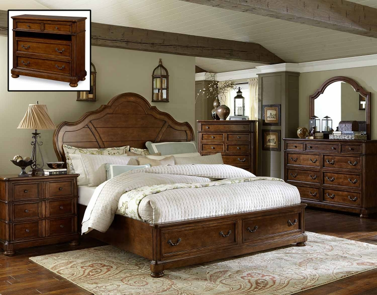 Summerfield Panel Storage Bedroom Set