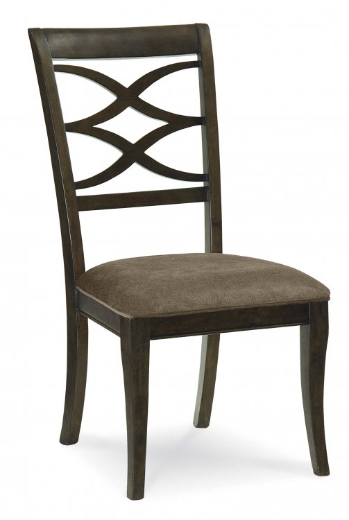 Westerly Splat Upholstered Back Side Chair - Anthracite/Smokey Heather Accents