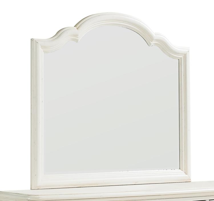 Haven Mirror for Bureau - Buttercream White/Slight Distressing
