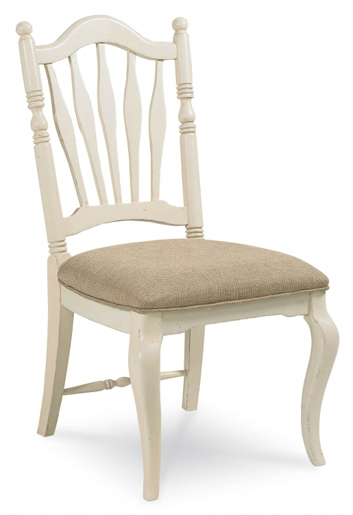 Haven Sheaf Back Side Chair - Buttercream White/Slight Distressing