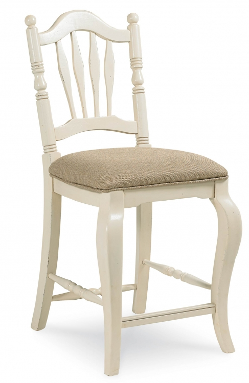 Haven Pub Chair - Buttercream White/Slight Distressing