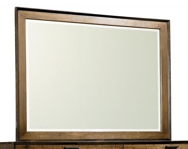 Kateri Mirror for Dresser - Hazelnut/Ebony Exteriors