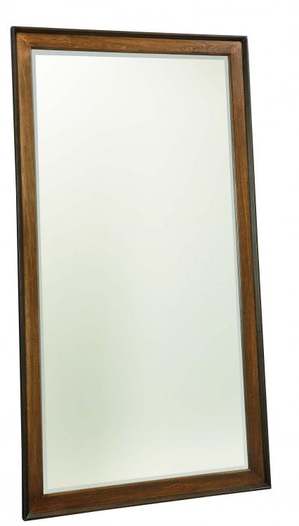 Kateri Floor Mirror - Hazelnut/Ebony Exteriors