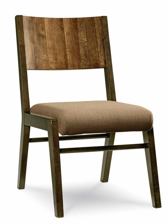 Kateri Wood Back Side Chair - Hazelnut/Ebony Exteriors