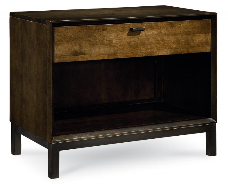 Kateri Open Night Stand - Hazelnut/Ebony Exteriors