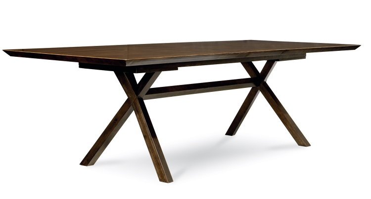 Kateri Trestle Table - Hazelnut/Ebony Exteriors