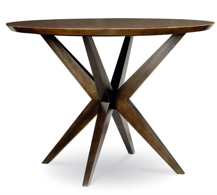 Kateri Round Pub Table - Hazelnut/Ebony Exteriors
