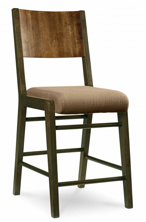 Kateri Pub Chair - Hazelnut/Ebony Exteriors