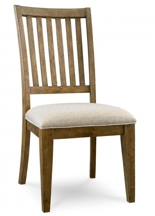 Novella Slat Back Side Chair - Khaki