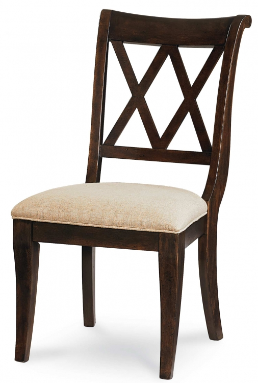 Thatcher X Back Side Chair - Amber