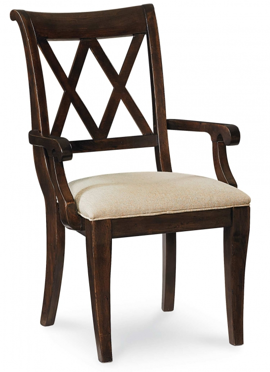 Thatcher X Back Arm Chair - Amber