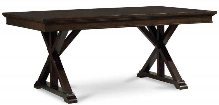 Thatcher Trestle Table - Amber