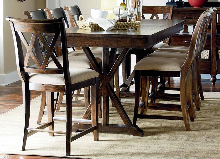 Thatcher Pub Dining Set - Amber