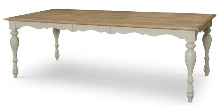 Sanibel Leg Table - Driftwood/Mist Paint