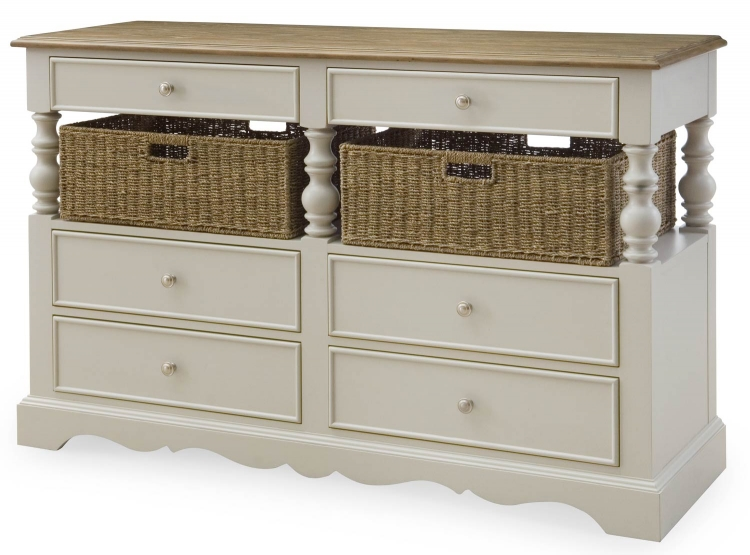 Sanibel Sideboard - Driftwood/Mist Paint