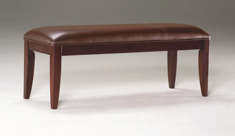 Rhythm Leather Upholstered Bench