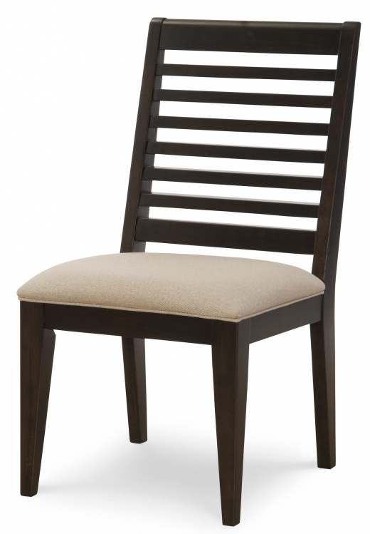 Helix Slat Back Side Chair - Charcoal/Stone