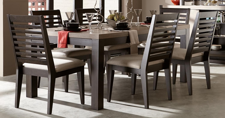 Helix Dining Set - Charcoal/Stone