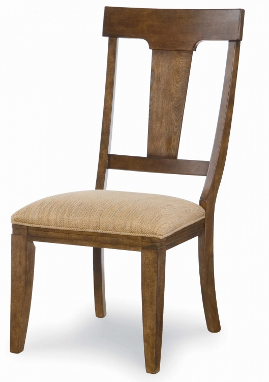 River Run Splat Back Side Chair - Bourbon