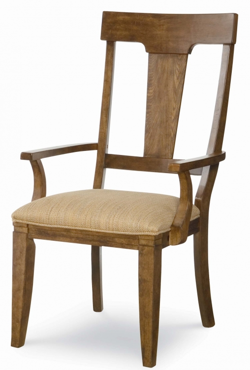 River Run Splat Back Arm Chair - Bourbon