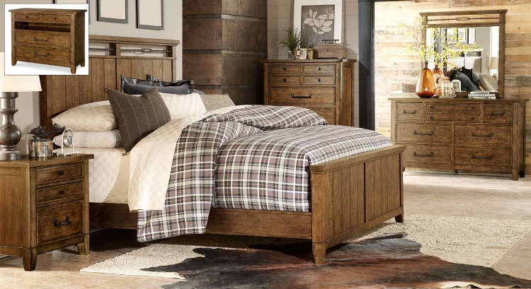 River Run Panel Bedroom Set - Bourbon
