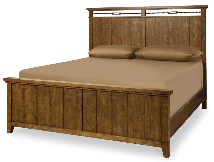 River Run Panel Bed - Bourbon