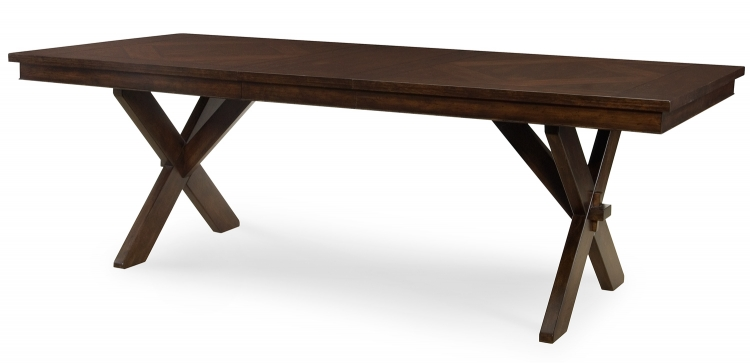 Deer Valley Trestle Table - Dark Rum