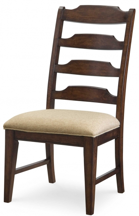 Deer Valley Ladderback Side Chair - Dark Rum