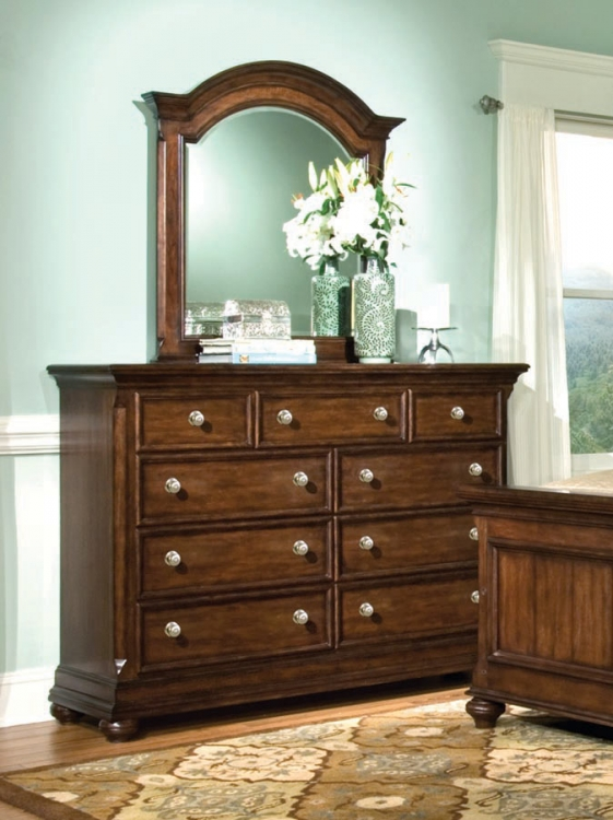 Canyon Creek Bureau with Arched Mirror
