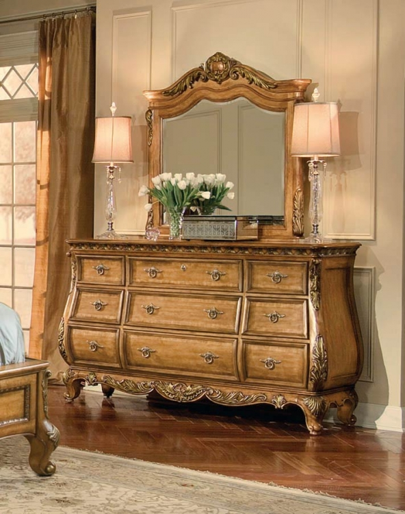 Versailles Dresser with Arched Mirror