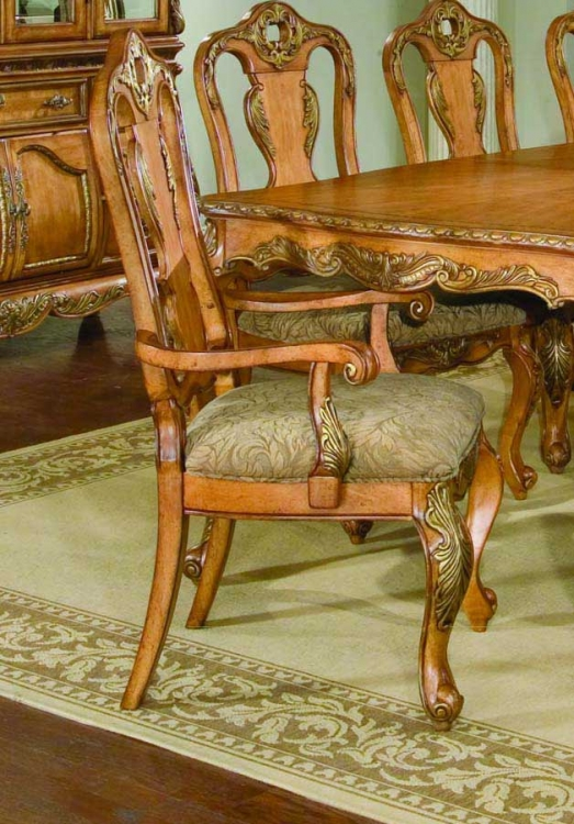 Versailles Splat Back Arm Dining Chair