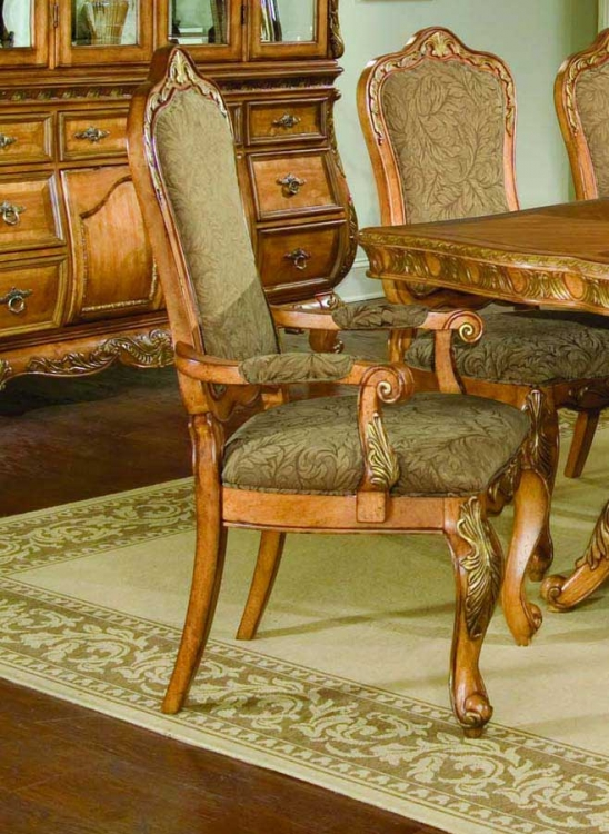 Versailles Upholstered Arm Dining Chair