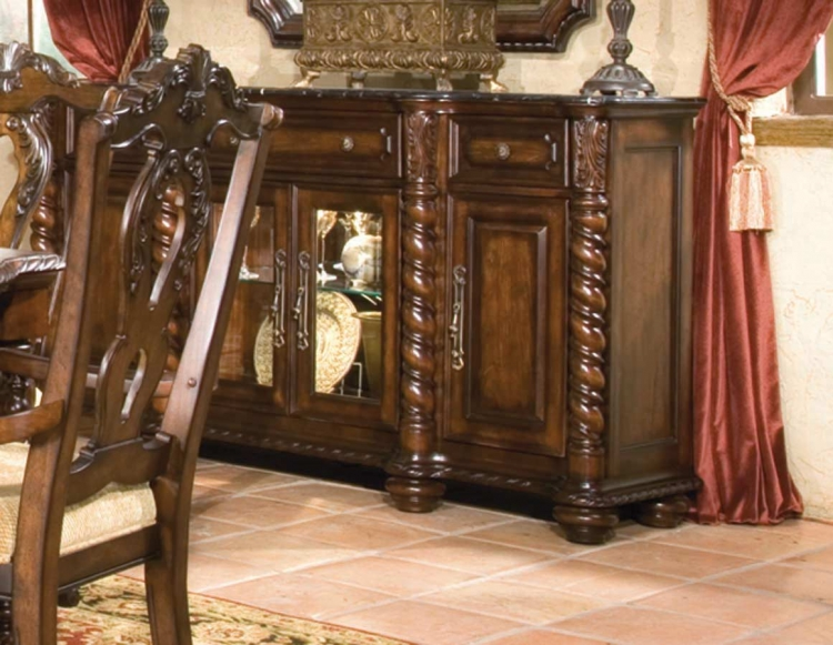 Conquistador Credenza with Marble Top